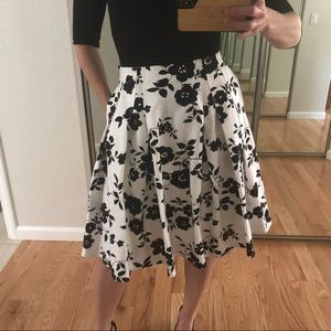 Dresses & Skirts - Pleated and Flared Knee Length Skirt